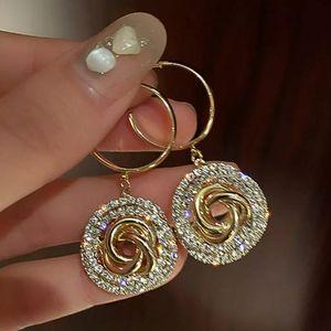 💖Golden Classic Crystal Swirls Earrings
